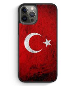 iPhone 12 Pro Silikon Hülle - Türkei Splash Flagge Türkiye Turkey