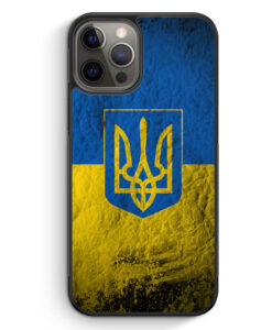 iPhone 12 Pro Max Silikon Hülle - Ukraine Splash Flagge Ukraina