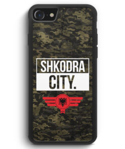 iPhone SE 2020 Silikon Hülle - Shkodra City Camouflage Albanien
