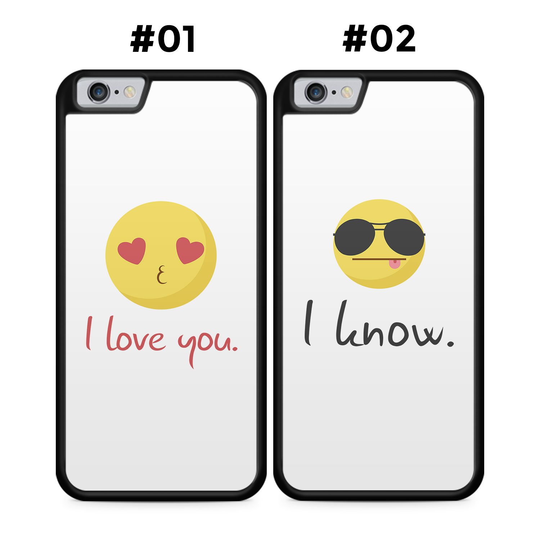 Partner Handyhüllen: I love you - I know - Silikon
