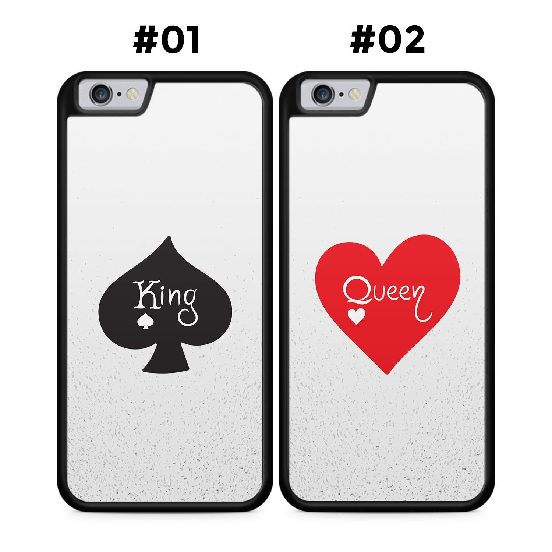 Partner Handyhüllen: King & Queen Cards - Silikon