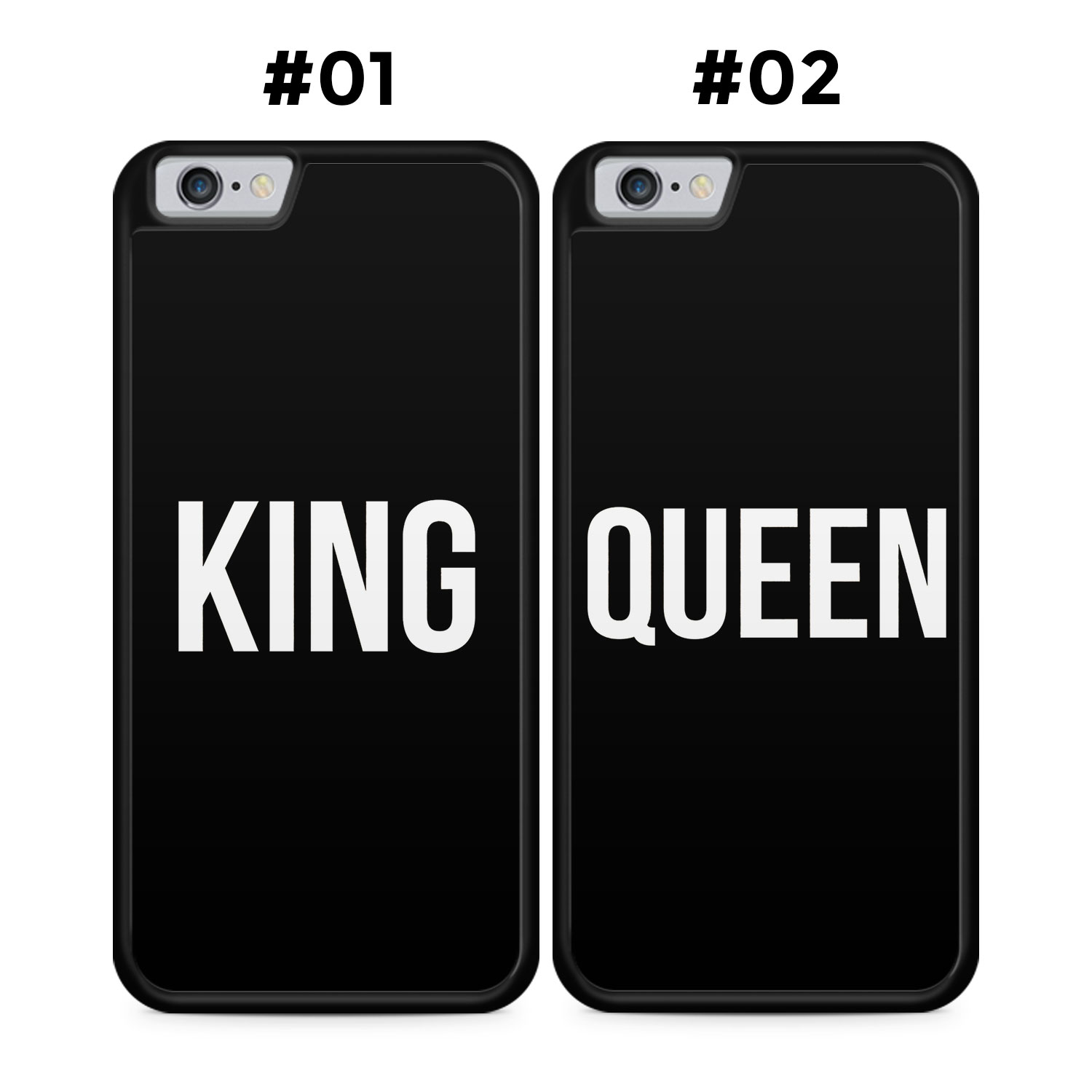 Partner Handyhüllen: KING & QUEEN | Black Edition - Silikon