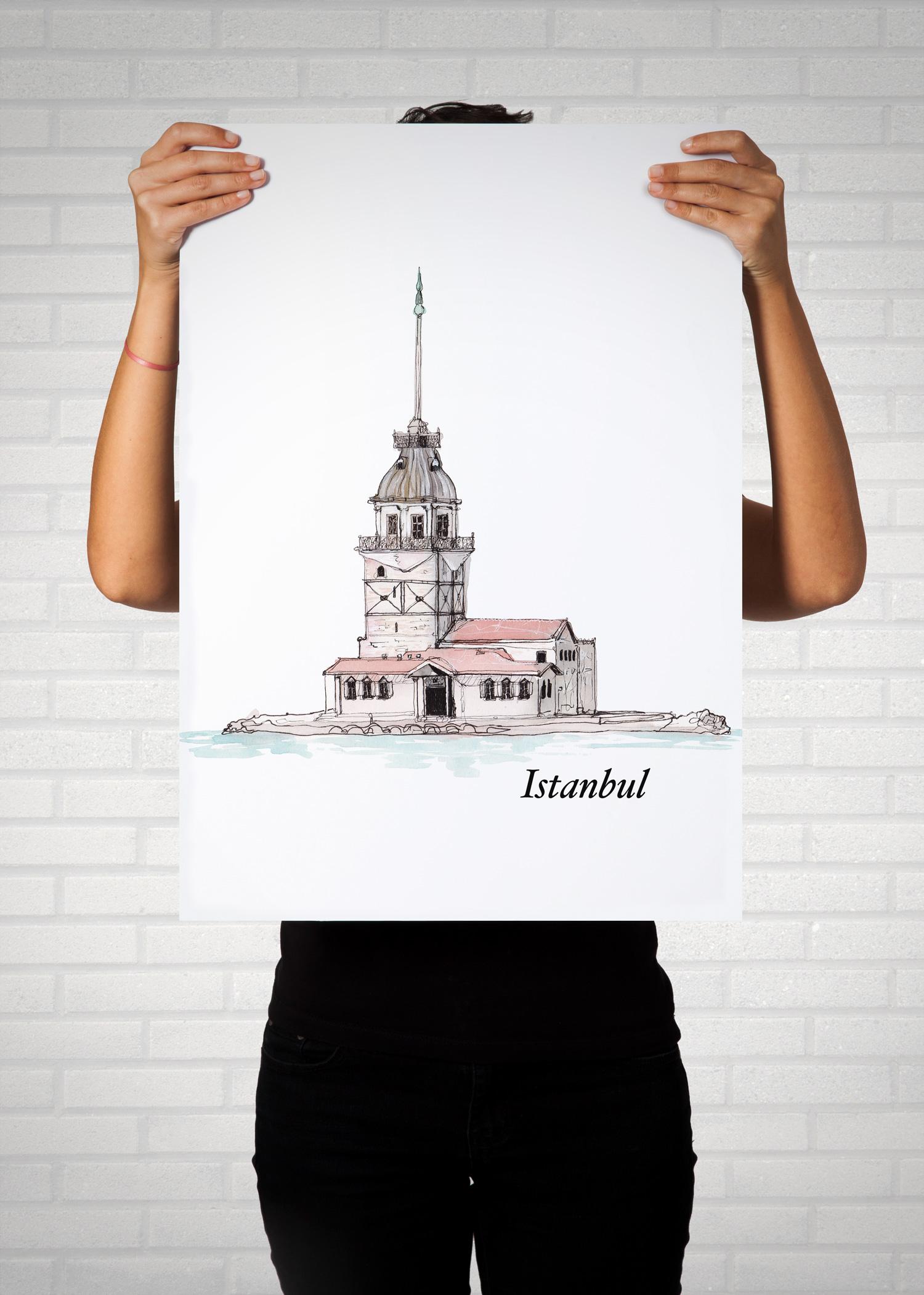 Istanbul Kiz Kulesi Poster