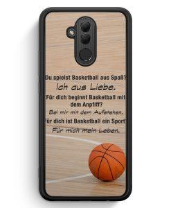 Huawei Mate 20 Lite Silikon Hülle - Basketball Liebe