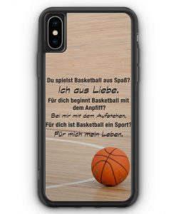 iPhone XS Max Silikon Hülle - Basketball Liebe