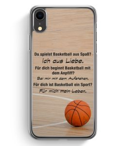 iPhone XR Hardcase Hülle - Basketball Liebe