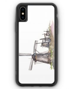 iPhone XS Max Silikon Hülle - Windmühlen Kinderdijk