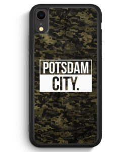 iPhone XR Silikon Hülle - Potsdam City Camouflage