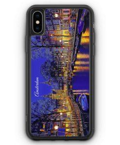 iPhone XS Max Silikon Hülle - Panorama Amsterdam