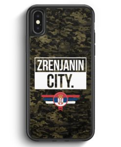 iPhone X & iPhone XS Silikon Hülle - Zrenjanin City Camouflage Serbien