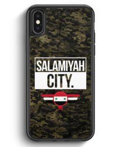iPhone X & iPhone XS Silikon Hülle - Salamiyah City Camouflage Syrien