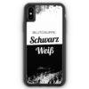 iPhone XS Max Silikon Hülle - Blutgruppe Schwarz Weiß