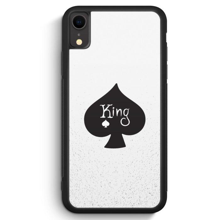 iPhone XR Silikon Hülle - King Spielkarten #01