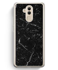 Huawei Mate 20 Lite Hardcase Hülle - Marmor Marble Schwarz
