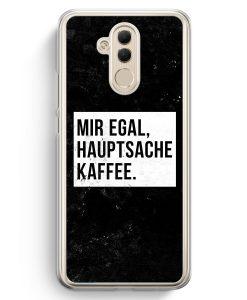 Huawei Mate 20 Lite Hardcase Hülle - Mir Egal Hauptsache Kaffee