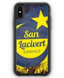 iPhone XS Max Silikon Hülle - Sari Lacivert Kanimiz Türkei Türkiye
