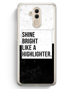 Huawei Mate 20 Lite Hardcase Hülle - Shine Bright Like A Highlighter