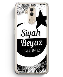 Huawei Mate 20 Lite Hardcase Hülle - Siyah Beyaz Kanimiz Türkei Türkiye