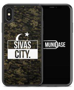 iPhone X Hülle SILIKON - Sivas City Camouflage