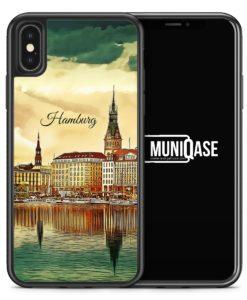 iPhone X Hülle SILIKON - Panorama Hamburg