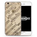 Musik Noten Vintage Seitlich - transparente Handyhülle für iPhone 6 Plus & 6s Plus