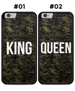 Partner Handyhüllen: KING & QUEEN Camouflage - Silikon