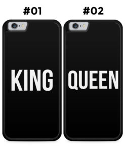 Partner Handyhüllen: KING & QUEEN  Black Edition - Silikon